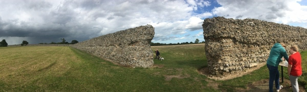 A Stroll around English Heritage's Burgh Castle, Norfolk